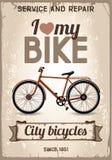 Bicyclette de ville illustration de vecteur