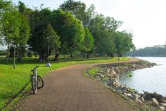 Bicyclette du parc, Chanthaburi photographie stock