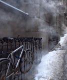 Bicyclette et vapeur Images libres de droits