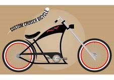 Bicyclette faite sur commande de croiseur Photographie stock