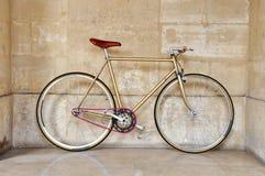 Bicyclette fixe de trains photographie stock libre de droits