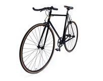 Bicyclette fixe noire de vitesse image libre de droits