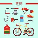 Bicyclette Kit Keep Moving illustration de vecteur