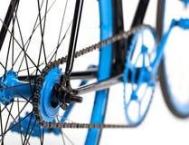 Bicyclette élégante d'isolement sur le blanc Photo stock