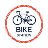 Bicyclette-logo Photos libres de droits