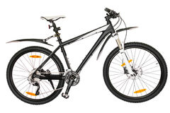 Bicyclette noire et blanche Images stock