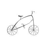 Bicyclette noire sur l'illustration blanche de vecteur de fond Image libre de droits