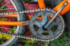 Bicyclette orange Images libres de droits