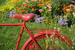 Bicyclette rouge Image libre de droits