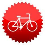 Bicyclette, signe rouge du soleil Images libres de droits