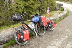 Bicyclette sur la route Photographie stock