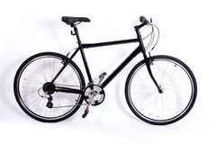 Bicyclette sur le blanc Photo libre de droits