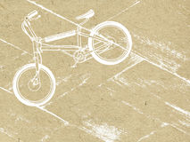 Bicyclette sur le fond grunge illustration stock