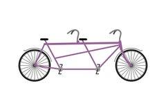 Bicyclette tandem d'isolement sur le fond blanc Bicyclettes pour des promenades Photographie stock libre de droits