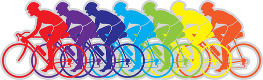 Bicyclette Team Mix Color  Image stock