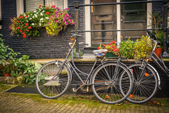 Bicyclettes à Amsterdam Images stock