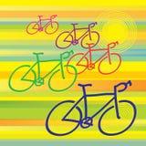 Bicyclettes Image libre de droits
