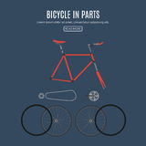 Bicyclettes avec les pièces detailful Image stock