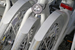 Bicyclettes blanches Photo stock