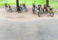 Bicyclettes colorées Image libre de droits