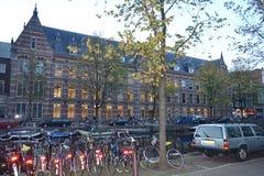 Bicyclettes d'Amsterdam Images libres de droits