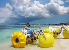 Bicyclettes de l'eau Image stock