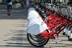 Bicyclettes de ville photographie stock