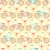 Bicyclettes et coeurs roses illustration libre de droits