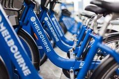 Bicyclettes gratuites autour de Melboune photo libre de droits
