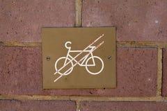 Bicyclettes interdites Photo libre de droits