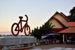 Bicyclettes - le symbole de la forme physique Image libre de droits
