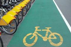 Bicyclettes pour la location Images stock