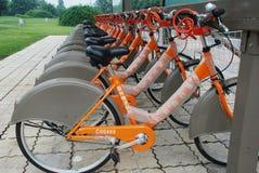 Bicyclettes publiques à Chengdu photographie stock libre de droits