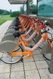 Bicyclettes publiques à Chengdu photographie stock