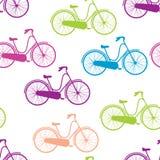 Bicyclettes sans couture de modèle de vecteur Photo stock