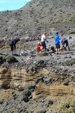 Bicyclettes sur le dessus du volcan Photographie stock