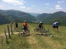 Bicycling в Италии Стоковые Фотографии RF