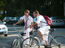 Bicycling туристы Стоковые Фото