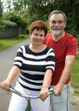 bicycling Obraz Stock