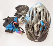 Bicycling accessories Royalty Free Stock Photography