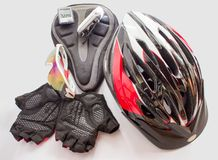 Bicycling accessories Stock Image