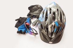 Bicycling accessories Royalty Free Stock Image