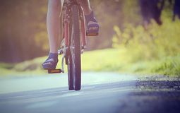 Bicycling Stock Photo
