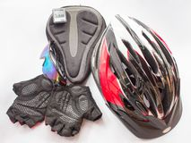 Bicycling accessories Royalty Free Stock Photos
