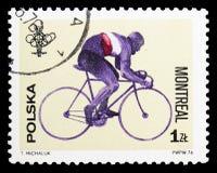 Bicycling, Jogos Olímpicos 1976 - serie de Montreal, cerca de 1976 imagem de stock royalty free