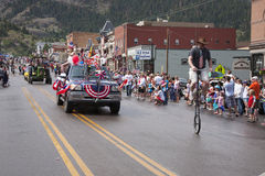 Bicycling July 4 Independence Day Parade Stock Image