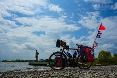 Bicycling - Mindfulness imagem de stock