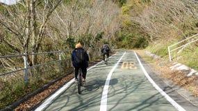 Bicycling at Onomichi Stock Image