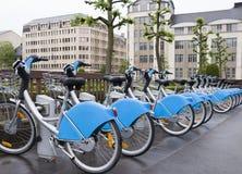 Bicycling para o aluguel em Luxemburgo Fotos de Stock