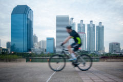 Bicycling Royalty Free Stock Image